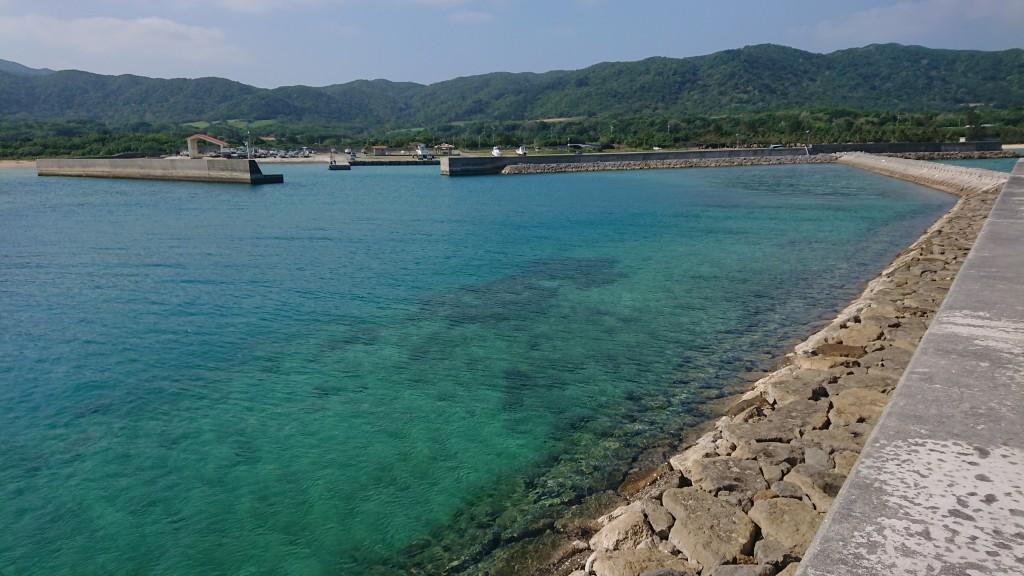 海から見る伊野田漁港
