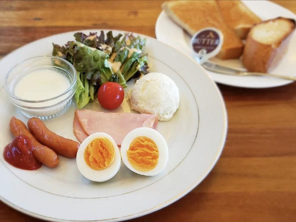 ワンプレート軽朝食付き