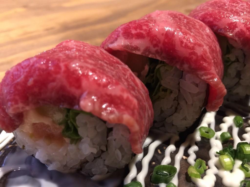 美崎牛ロール寿司